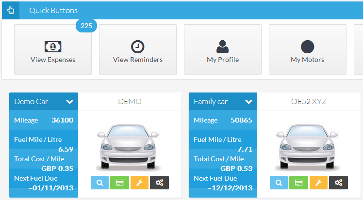 motorrecord car maintenance records online car fuel mileage